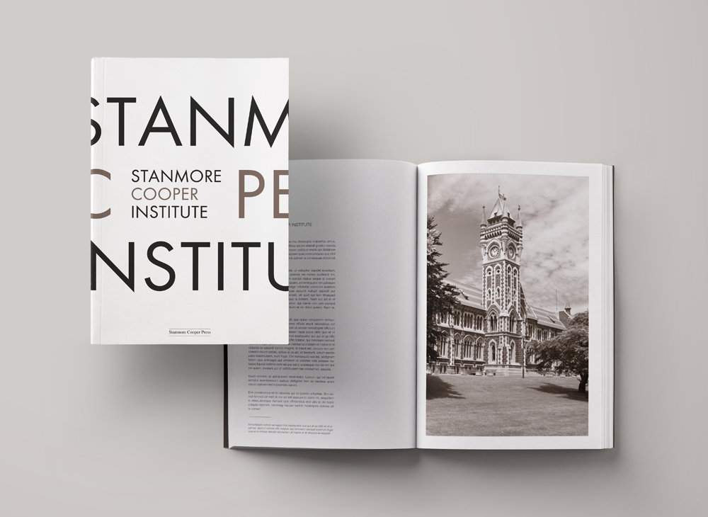 Branding & Corporate Stationery for Catalogue for Stanmore Cooper Institute, political sciences university.