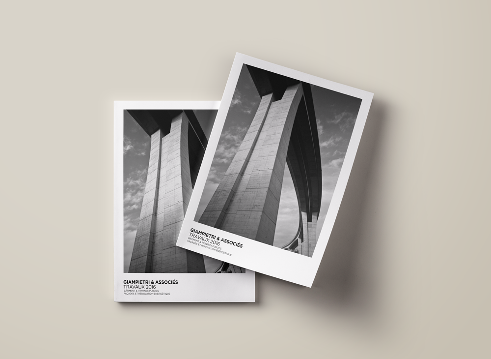 Branding Identity for Promotional book for Giampietri & Associés, building and civil engineering company.