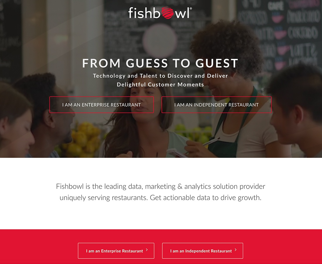 Web development for Fishbowl - Data, Marketing & Analytics Solution